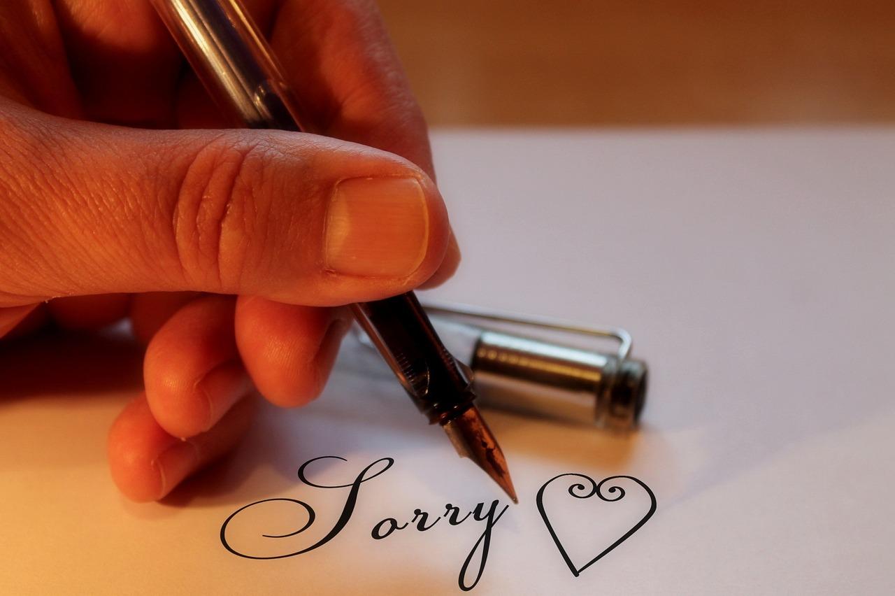 對不起!我錯了!